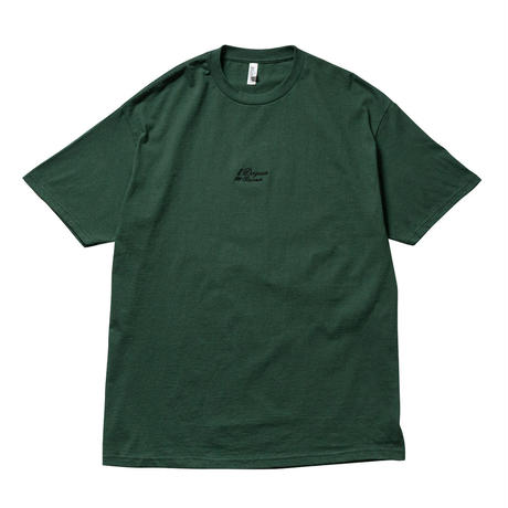 DOGEAR RECORDS TEE (Green × Black)