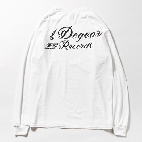 DOGEAR RECORDS  L/S TEE (White × Black)