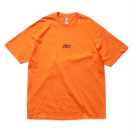 DOGEAR RECORDS TEE (Orange × Black)