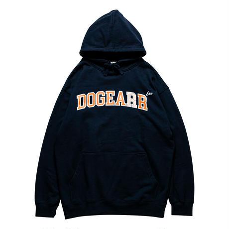 Dogear Records Hoodie  Navy (White × Orange)