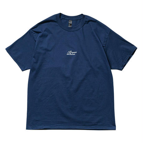 DOGEAR RECORDS TEE (Navy × Silver)