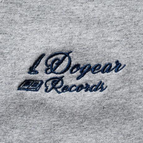 DOGEAR RECORDS TEE (Gray × Navy)