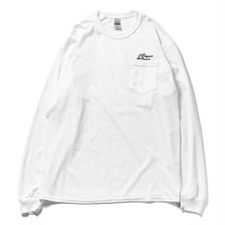 DOGEAR RECORDS  L/S TEE (White × Black)