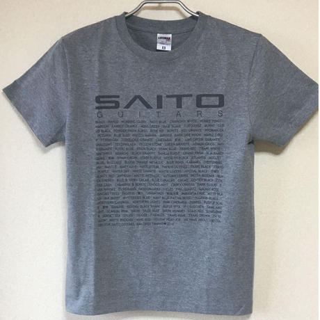 SAITO GUITARS T-Shirt / Heather Gray  杢グレー