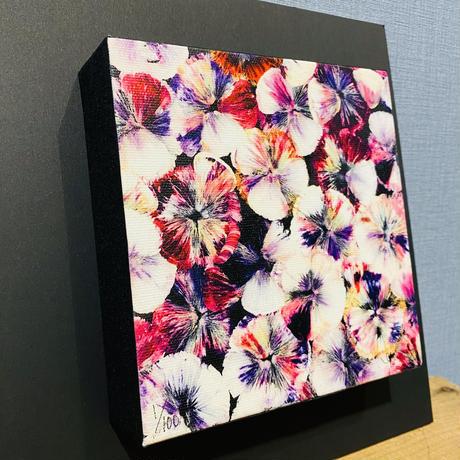 ジクレー版画「wavering lamination-purple」(2020年)