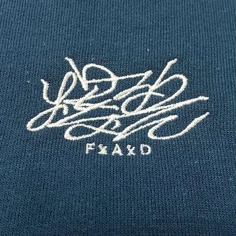 爆裂FxAxD 刺繍パーカー (レギオンブルー)