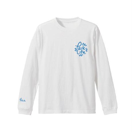 PARKLIFE  リーフロゴロングTシャツ(ホワイト)
