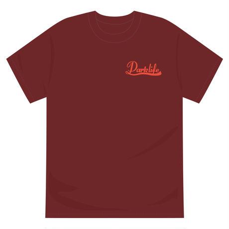 PARKLIFE   葉っぱロゴTシャツ(バーガンディー)