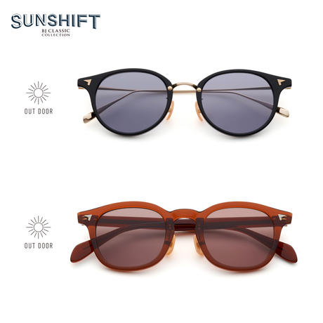 《SUNSHIFT® お試しセット》 / 【S-C510N  1-1 ブラック-ゴールド】&【S-P551  3 ビールブラウン】