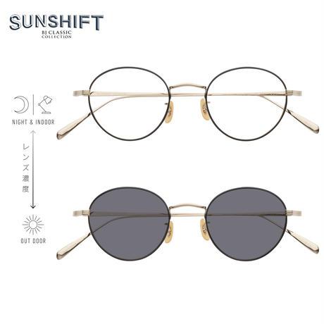 SUNSHIFT® / S-PM114S BNT  1-1 ゴールド-ブラック (SUNSHIFT®レンズ:クリア⇄グレー)