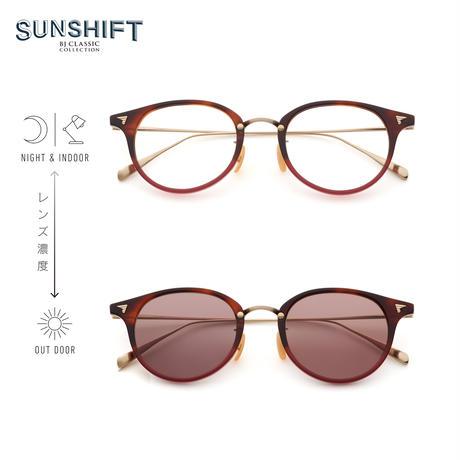 SUNSHIFT® / S-C510N  101-6 ダークデミレッドⅡ-マットゴールド(SUNSHIFT®レンズ:クリア⇄ブラウン)
