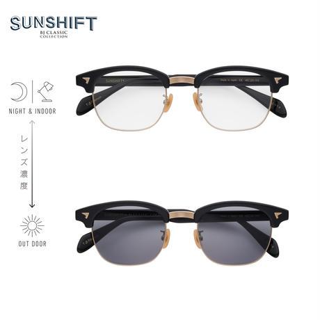 SUNSHIFT® / S-S88  1-1a ブラック-ゴールド(SUNSHIFT®レンズクリア⇄グレー)
