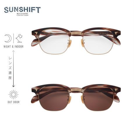 SUNSHIFT® / S-S88  30-6a クロササ-マットゴールド(SUNSHIFT®レンズクリア⇄ブラウン)