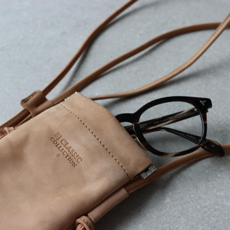 《Web限定》BJ CLASSIC COLLECTION  Leather  Glasses  Sacoche (全3種選択)