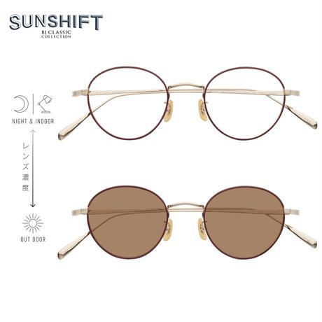 SUNSHIFT® / S-PM114S BNT  1-5 ゴールド-レッド (SUNSHIFT®レンズ:クリア⇄ブラウン)