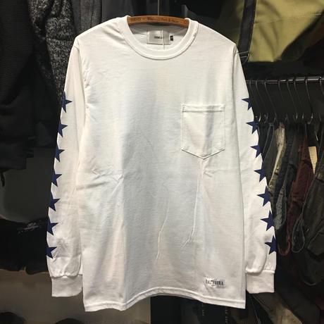 (イーブンフロウ)EVENFLOW L/S TEE 星柄 ★ 長袖Tシャツ ロンティー (EF-910-WH)