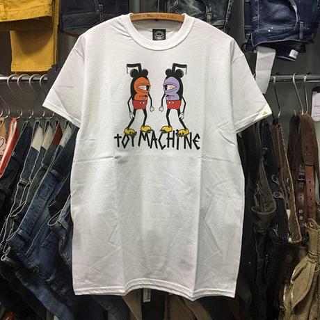 (トイマシーン)toy machine クレイジーミッキー マウスケーター MOUSEKETTER Tシャツ (TMJ18ST1-WH)