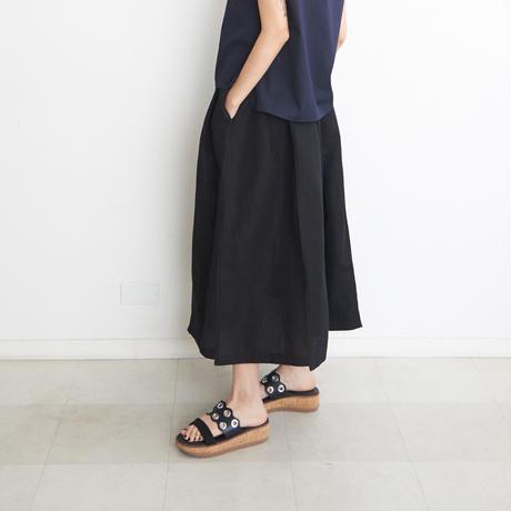 ステッチスカート/ col. 黒