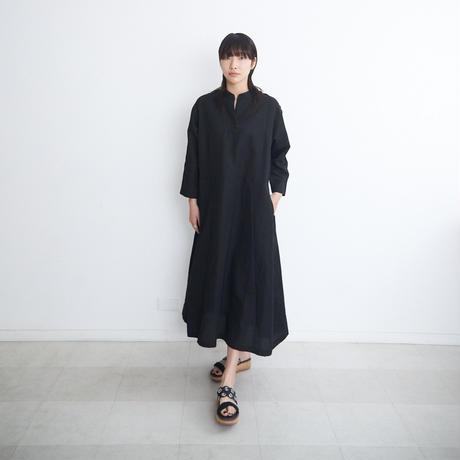 ステッチワンピース/ col.黒