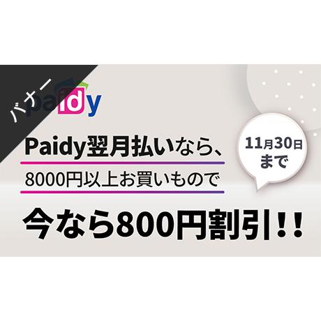 バナー素材|3サイズセット  Paidy翌月払い限定800円割引クーポン