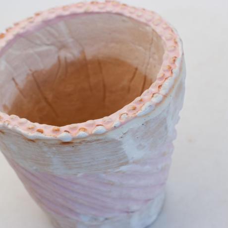 陶器製(3号ポット相当)多肉植物の欲しがる植木鉢 NSMc-9708ピンク