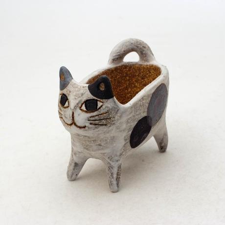 泰木窯 陶器製 ネコ鉢  4254