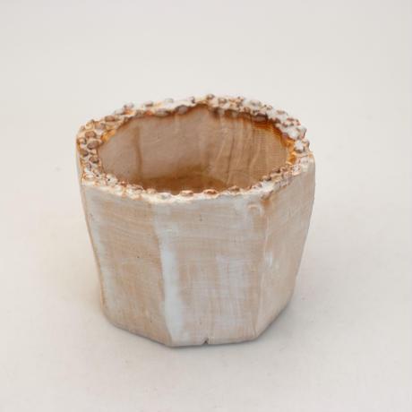 陶器製(2号ポット相当)多肉植物の欲しがる植木鉢 KES-9944