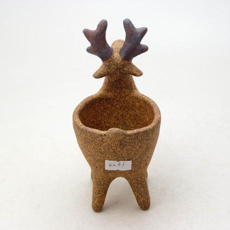 泰木窯 陶器製 トナカイ鉢  4261