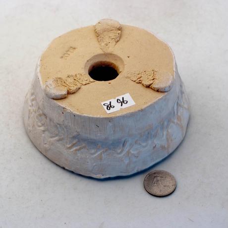 陶器製 多肉植物の欲しがる植木鉢 AQSScd -8696ブルー