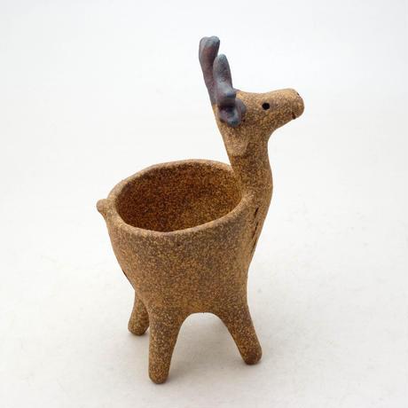 泰木窯 陶器製 トナカイ鉢  4260