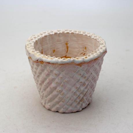 陶器製(2.5号ポット相当)多肉植物の欲しがる植木鉢 SMSc-8845ピンク