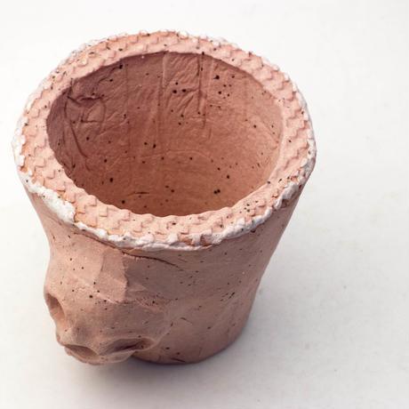 陶器製(2号ポット相当) AAMcスカル鉢-343ミカゲ