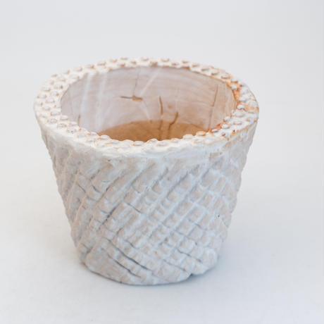陶器製(2.5号ポット相当)多肉植物の欲しがる植木鉢 SMSc-9739ブルーグレイ