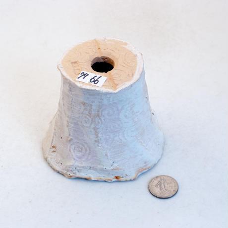陶器製(2号ポット相当)多肉植物の欲しがる植木鉢 AAMcd-7766パープル