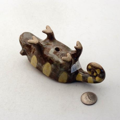 泰木窯 陶器製 カメレオン鉢  4259