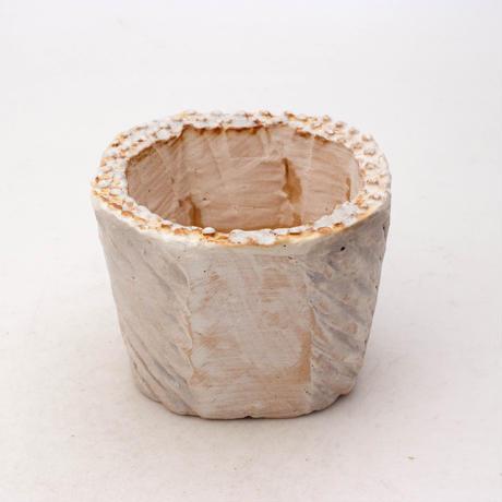 陶器製(2号ポット相当)多肉植物の欲しがる植木鉢 KESc-7884ブルーグリーン