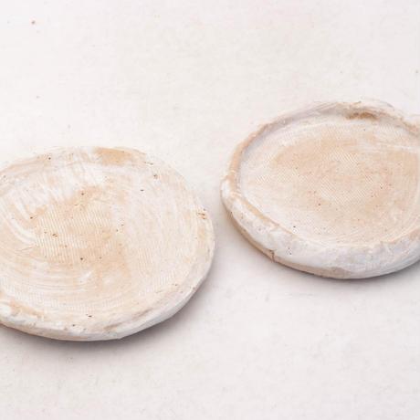 陶器製(2号ポット相当)多肉植物の欲しがる植木鉢 皿S-2枚組無破水- 7898