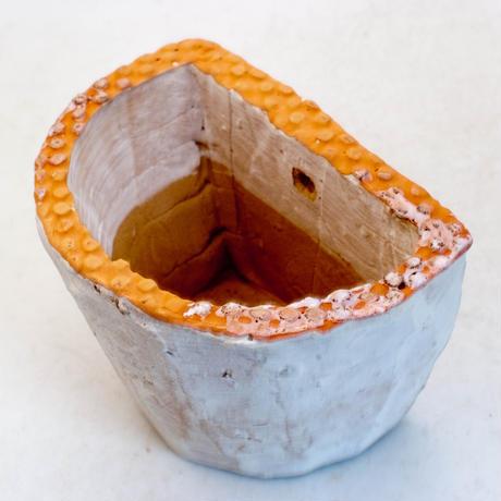 陶器製 多肉植物の欲しがる植木鉢 HPc-7204オレンジ
