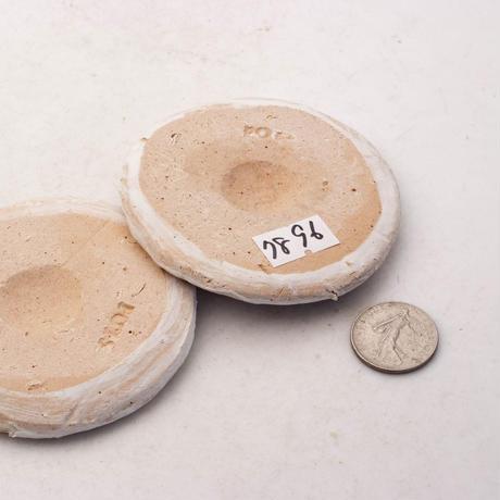 陶器製(2号ポット相当)多肉植物の欲しがる植木鉢 皿S-2枚組無破水- 7896