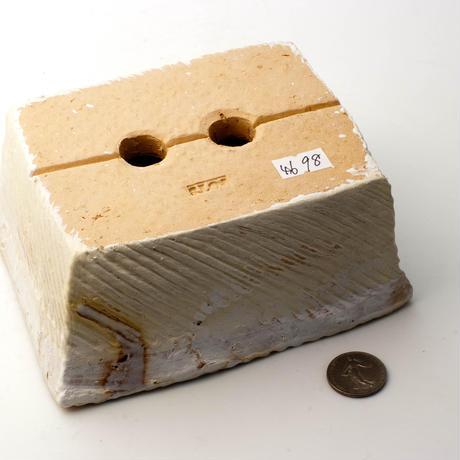 陶器製 多肉植物の欲しがる植木鉢 AES(II)cd-4698イエロー