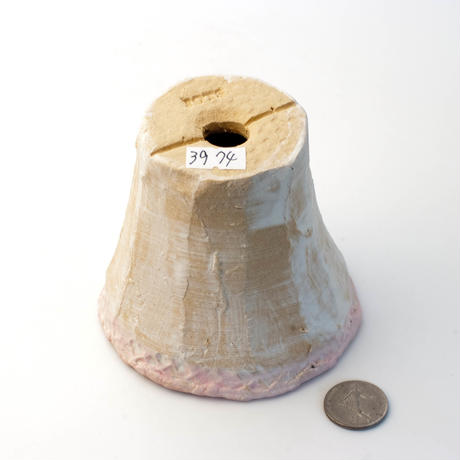 陶器製 多肉植物の欲しがる植木鉢 ICMc-3974-ピンク
