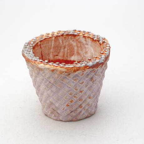陶器製(2.5号ポット相当)多肉植物の欲しがる植木鉢 SMSc- 9169パープル