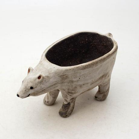 泰木窯 陶器製 シロクマ鉢  4262