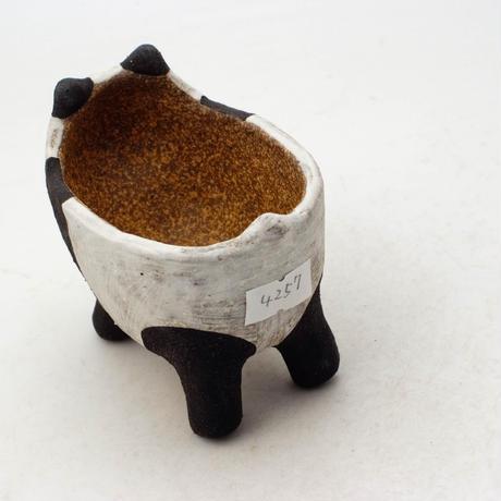 泰木窯 陶器製 パンダ鉢  4257