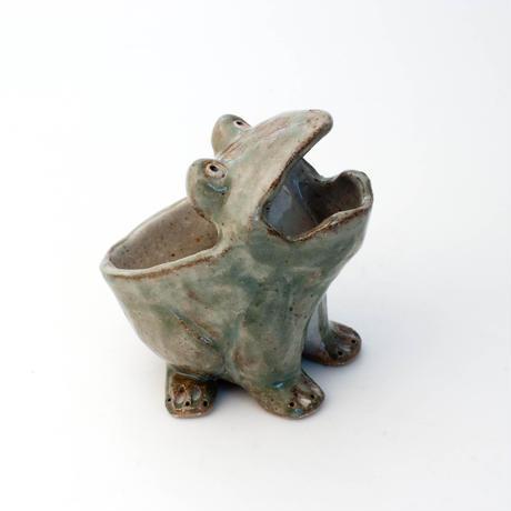 泰木窯 陶器製 カエル鉢 (小)#7