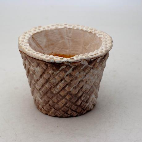 陶器製(2.5号ポット相当)多肉植物の欲しがる植木鉢 SMSc-8847ブラウン