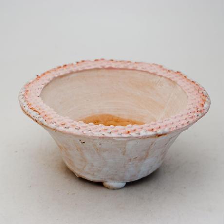 陶器製 多肉植物の欲しがる植木鉢 QQcd-9370 ピンク
