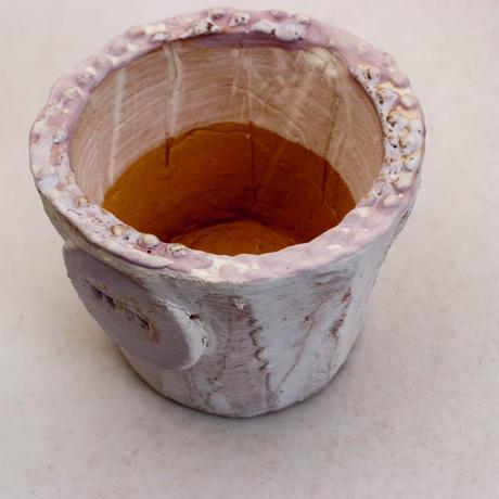 陶器製(2号ポット相当)多肉植物の欲しがる植木鉢  AAScd-パープル6969