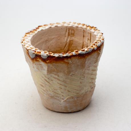 陶器製(2.5号ポット相当)多肉植物の欲しがる植木鉢 NSSc-9182イエロー