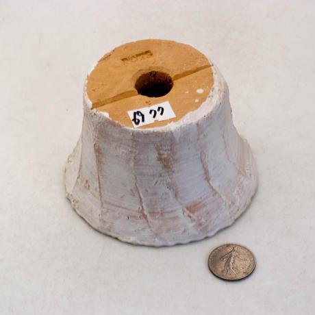 陶器製(2号ポット相当)多肉植物の欲しがる植木鉢 PScd-イエロー6977